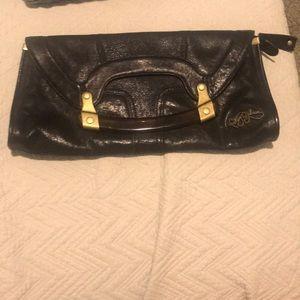 Black Betsy Johnson clutch